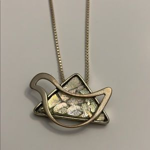 Jewelry - 🆕 Sterling Silver Dove on Star of David w/chain